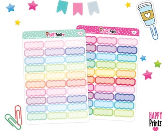 HP 184) --  Scalloped Boxes Stickers