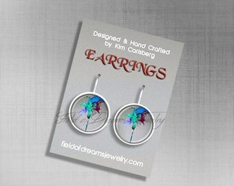 ARTIST PAINTBRUSH EARRINGS Artist Palette Art Teachers Gifts Artist Gift Artist Earrings Gift for Artists Artist Jewelry Painters Palette