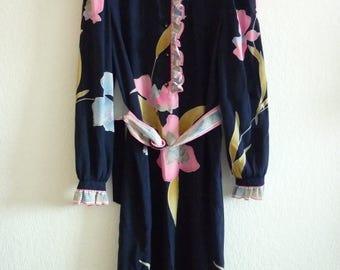Leonard Paris silk dress | Orchid pattern | size Medium