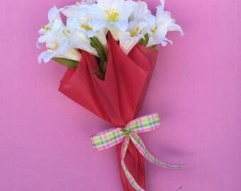 Umbrella Wreath, Umbrella Door Hanger, Spring Wreath, Spring Door Hanger, Spring Door Decor, Easter Door Hanger, Lily Wreath, Easter Wreath