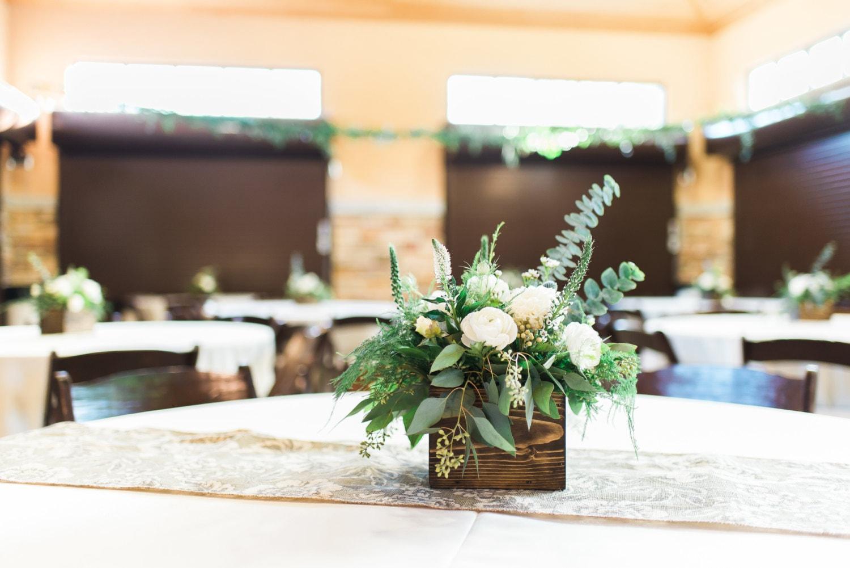 Wood centerpiece wedding rustic decor