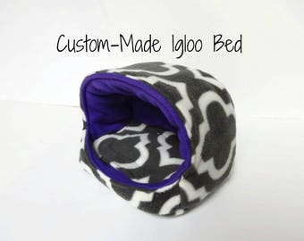 Custom-Made Igloo Bed - For Guinea Pigs, Hedgehogs, Rabbits, Rats, and more!