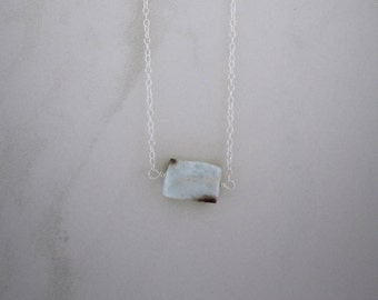 Light Turquoise Stone, Sterling Silver Chain