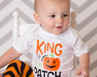 King of the Patch Onesie/Shirt - (0-24 months) (2T-14/16) - halloween shirt, halloween onesie, pumpkin shirt, jack o lantern shirt