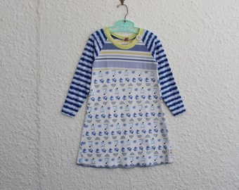 Child's Size 4 Upcycled T Shirt Dress, Recycled T Shirt Dress for 4 Year Old, Repurposed Tshirt Dress for Little Girl, Four Year Old Dress