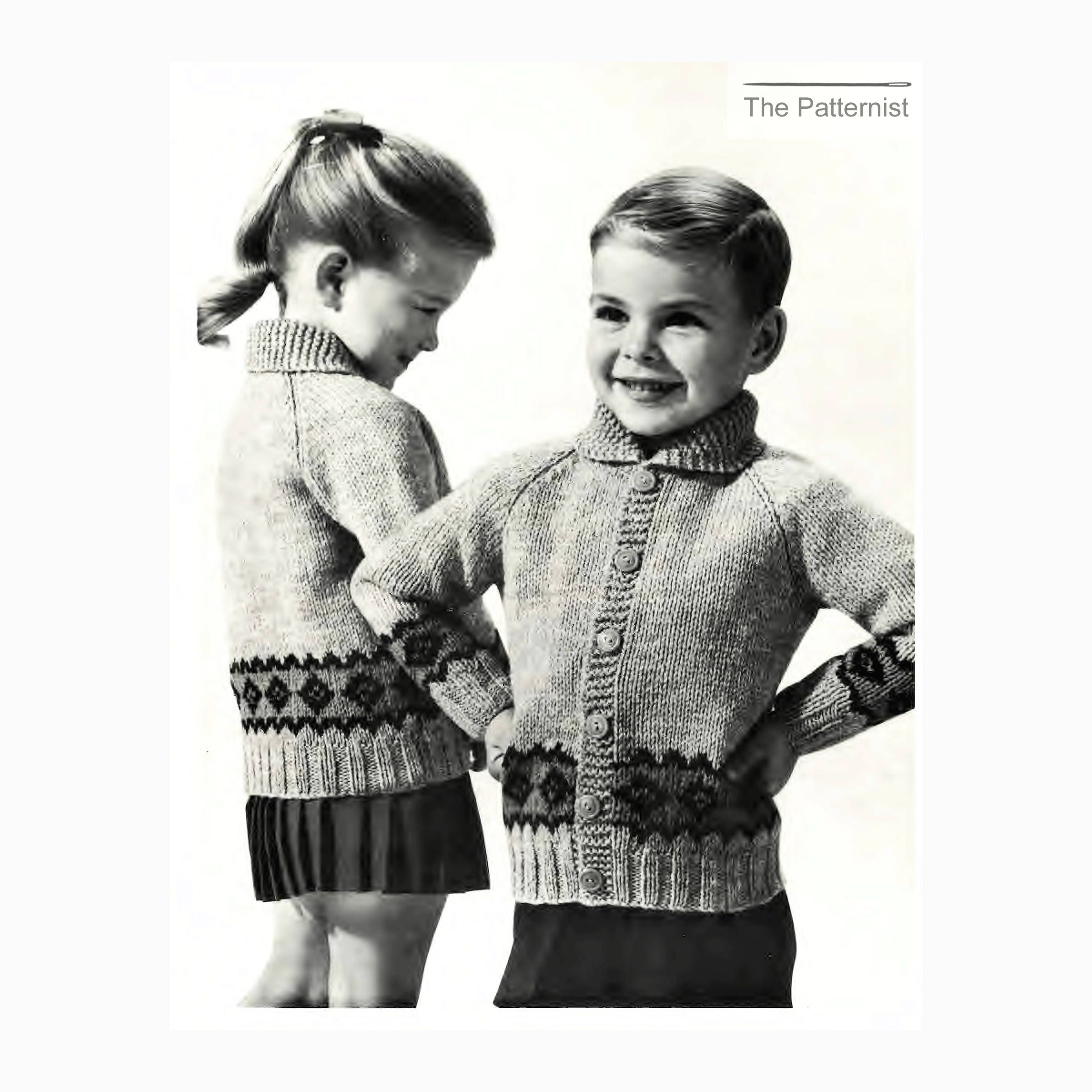 Vintage knitting pattern for childrens raglan cardigan sweater this is a digital file bankloansurffo Choice Image