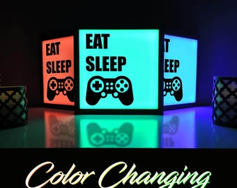Video Game Decor, Gaming Light, Video Game Sign, Playstation, Video Game Lamp, Home and Living, Lighting, Gaming Decor, Lightbox