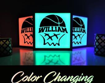 Basketball Sign, Basketball, Basketball Decor, Basketball Room, Basketball Light, Home Decor, Lighting, Light Box, Nightlight, Light Up Sign