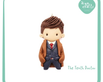 Doctor Who Polymer Clay The Tenth Doctor David Tennant Cell Phone Charm – Doctor Who Collection