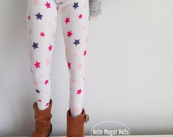 Tights with stars for pullip stock body and obitsu 27