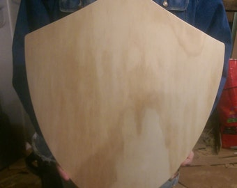 Link Wooden Heater Shield - 24''x22'' - LARP - Reenactment w/ Colour Options