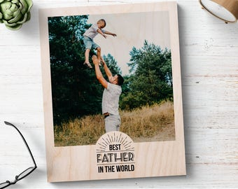 Fathers Day Picture Frame, Fathers Day Gift, Father Daughter Frame, Fathers Day Gift From Son, Photo Gift Dad, Daddy And Son, Custom Dad