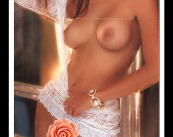 """Mature Playboy February 1991 : Playmate Centerfold Cristy Thom 3 Page Spread Photo Wall Art Decor 11"""" x 23"""""""