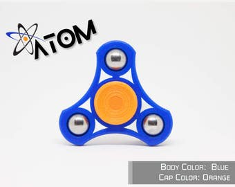Atom - Tri Hand Spinner Fidget Toy - Magnetic Caps - Ceramic Bearing - EDC ** FAST SHIPPING! **