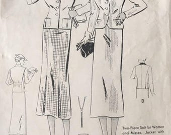 Vintage sewing pattern, Butterick, 6689, size 20 (bust 38)