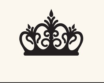 SVG and DXF File - Crown, Tiara, Princess, Queen, King, Prince, Silhouettes, Clipart, Vector, Instant Download
