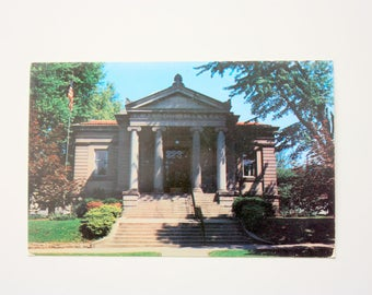 Wabash Carnegie Public Library Postcard 1963 / Wabash Postcard / Indiana Postcard / Architecture postcard
