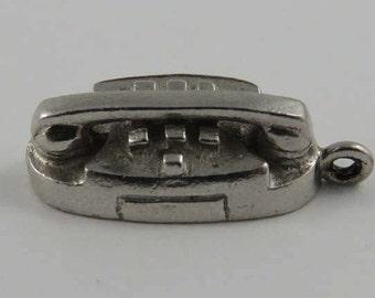 Princess Phone Sterling Silver Vintage Charm For Bracelet