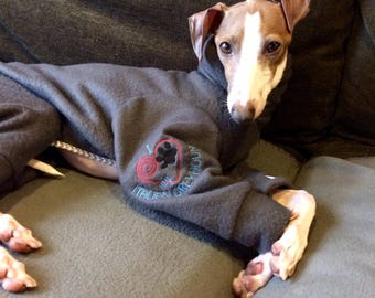 Italian Greyhound, Whippet, Greyhound Custom Embroidery for your pups Clothing