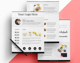 Fresh Blogger Media Kit (3 Pages)