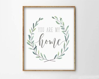You Are My Home Etsy