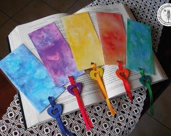 Watercolors bookmarks / Watercolor painting / Bookmark / Collecting painting / Bookmarks / Colours / Colored bookmarks / Watercolors