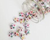 40 Rainbow Dot Origami Stars: Polka Dot Mini Stars - Origami Decorations - Paper Stars - Rainbow - Baby Shower Decorations - Birthday Decor
