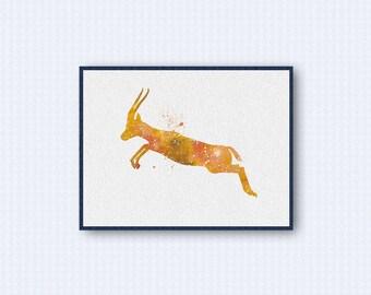 Gazelle Watercolor Poster