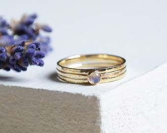 Moonstone Ring, Gold Moonstone Ring, Birthstone Ring, 9ct Gold Ring, Moonstone Gold Ring, Stacking Ring, Solid Gold, June Birthstone