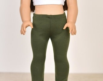 18 inch doll clothes Leggings Color Olive Green