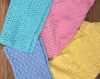 Hand Crocheted Car Seat Blankets