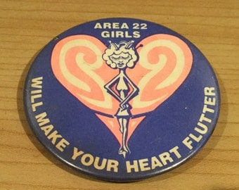Vintage UFO/Aliens Area 22 Badge