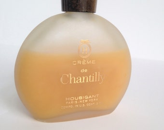 Vintage Houbigant Chantilly Crème de Chantilly Cologne Perfume 2 ozs. 60% Full, 1970s, Vintage Chantilly, Crème Cologne Creamy Cologne