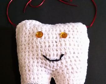 tooth fairy pillow, doorknob tooth fairy pillow, handmade crochet, hanging tooth fairy pillow, home & living, home decor, decorative pillows