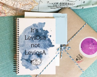 It's LeviOsa — Potterhead inspired Hermione quote | A6 pocket size notebook