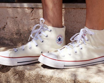 Men's vintage Converse All Star Chuck Taylor cream canvas grunge basketball shoes.size  eur-44 us-10