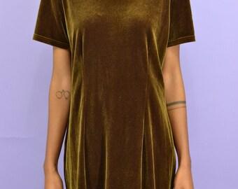 Vintage Bronze Velvet Dress
