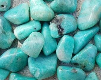 Amazonite Tumbled, One Amazonite Tumbled Stone, Amazonite, Stone for Courage, Stone for Expression