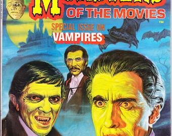 Monsters of the Movies 3, Vampire Issue, Dracula, Blacula, Bela Lugosi, Dark Shadows, Horror, Barnabas Magazine, bats. 1974 Marvel FVF (7.0)