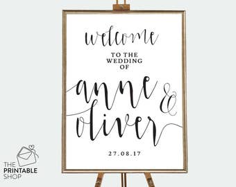 Rustic wedding welcome sign, Wedding ceremony sign, Wedding reception sign, Rustic wedding signs, Printable wedding signs rustic wedding