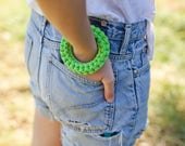 The Bang! Recycled Cotton Bracelet, Soft Textile Crochet Bangle NODO