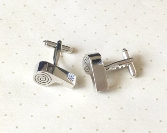 Whistle Cufflinks Cuff Links in Silver