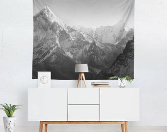 Wall Tapestry | Scenic Landscape Tapestry | Mountain Tapestry | Gray Tapestry | Scenic Wall Decor | Mountain Wall Decor | Gray Wall Art