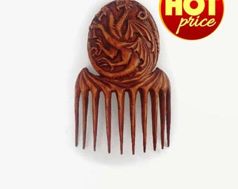 Game of Thrones Hair accessories bridal party gift beauty gift wooden hair comb Birthday gift hair fork Womens gift Wife gift bride gift