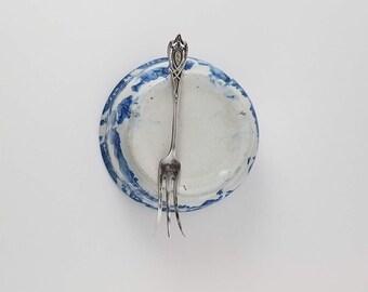 RLB Sterling silver lemon fork Rogers Lunt Bowlen antique sterling ladle Crest pattern OQ2423