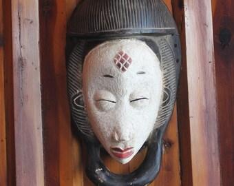 Carved African Punu Mask