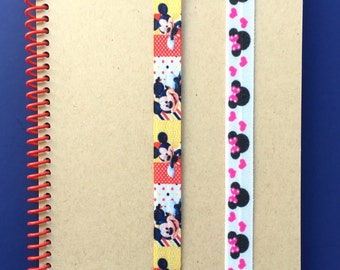 Disney themed Journal Bands, Journal Band, elastic band for use with planners, organizers, books, Bibles, diaries, notebooks, for kids