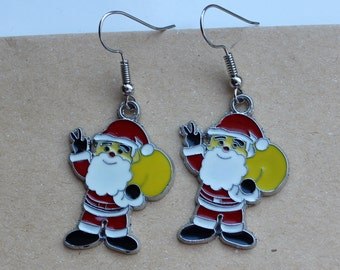Earrings Santa Claus, Handmade Jewelry, New year gift, Christmas gift