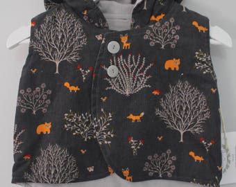 Forest Animals Hooded Vest