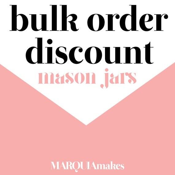 Bulk Order Mason Jar Tumbler Discount REQUEST By MarquiaMakes